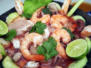 Cooked Florida Pink Shrimp and Citrus Ceviche